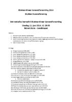 Innkalling Ekstraordinaer generalforsamling 2014