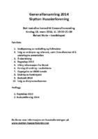 Innkalling Generalforsamling 2014