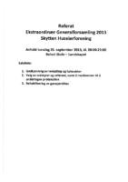 Referat Ekstraordinaer Generalforsamling 2013