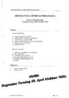 Referat Generalforsamling 2001