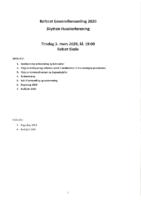 Referat Generalforsamling 2020 med regnskap 2019 og budsjett 2020
