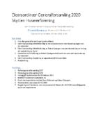 Ekstraordinær Generalforsamling 2020