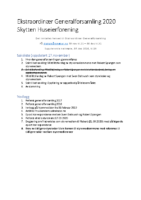 Ekstraordinær Generalforsamling 2020 – oppdatert