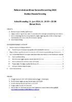 Referat GF 2014 Ekstraordinær